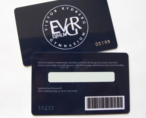 plastic barcode cards