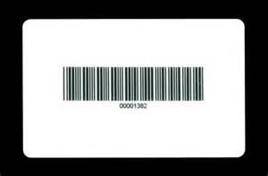 blank barcode cards