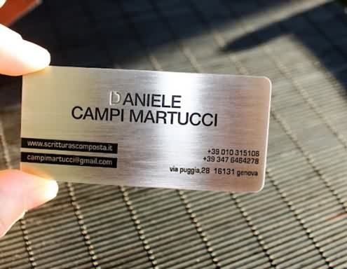 etched stainless steel metal card