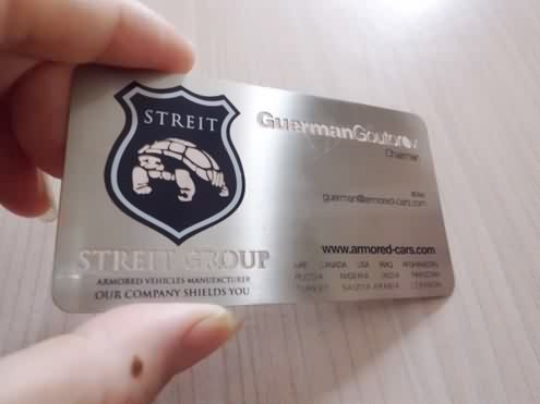 stainless steel metal cards