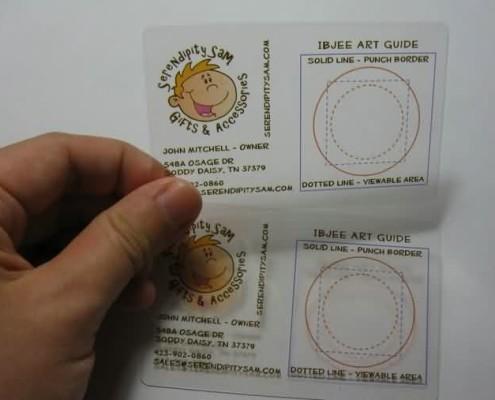plastic transparent cards
